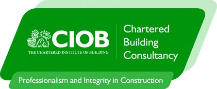 New CIOB - Chartered Building Consultancy Logo with strapline